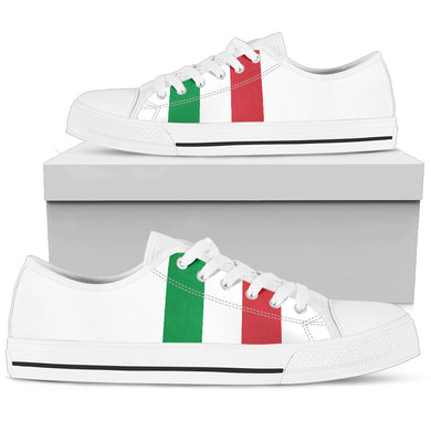 Italy Flag Women's Low Top White Shoe