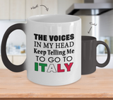 Voices in My Head Color Changing Mug