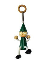 Bouncing Wooden Pinocchio Toy with Spring - Green