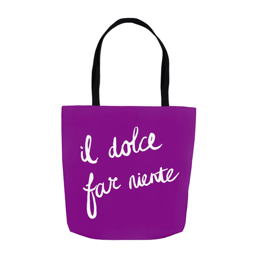 Sweetness of Doing Nothing Tote Bag - Purple