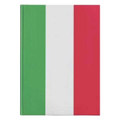 Italian Flag Hardcover Journal
