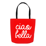 Ciao Bella Tote Bag - Red