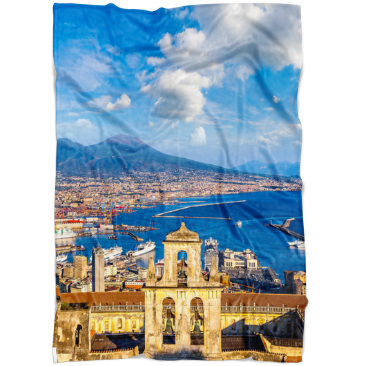 Napoli Fleece Blanket - Portrait