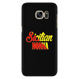 Sicilian Nonna Black Phone Case