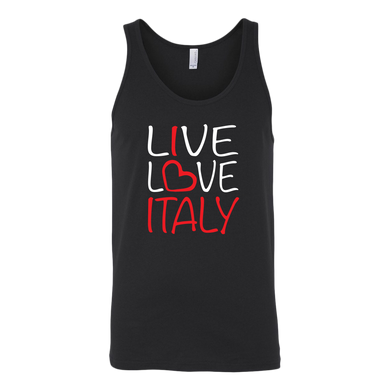 Live Love Italy Canvas Women's Tank
