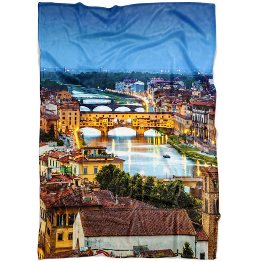Florence II Fleece Blanket - Portrait