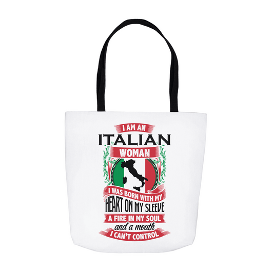 Italian Woman Tote Bag - White