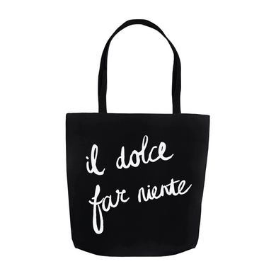 Sweetness of Doing Nothing Tote Bag - Black