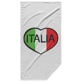 Italia Heart Beach Towel