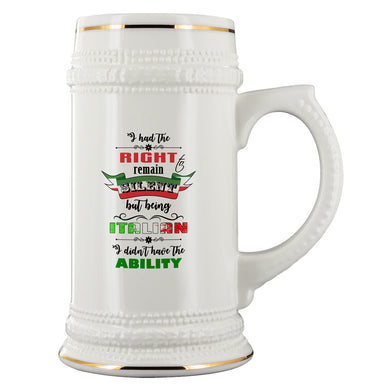 I Had the Right to Remain Silent I Beer Stein