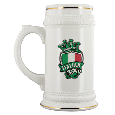 World's Best Italian Dad Beer Stein