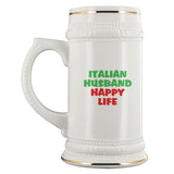 Italian Husband Happy Life Beer Stein