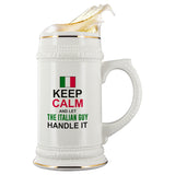 Let The Italian Guy Handle It Beer Stein