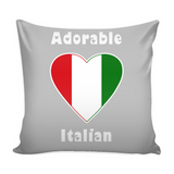 Adorable Italian Pillow Cover with Insert