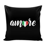 Amore Decorative Throw Pillow Set (Pillow Cover and Insert)