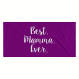 Best Mamma Ever Beach Towel