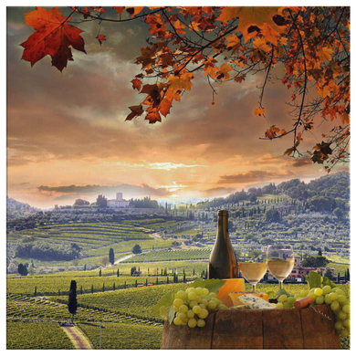 Chianti Tuscany Wall Art Canvas