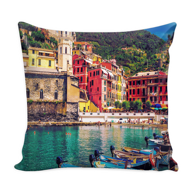 Cinque Terre Decorative Throw Pillow Set (Pillow Cover and Insert)