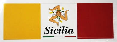 Sicilian Flag Decal Sticker