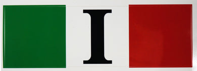 Italian Flag Decal Sticker