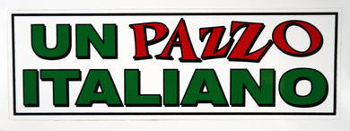 Un Pazzo Italiano Decal Sticker