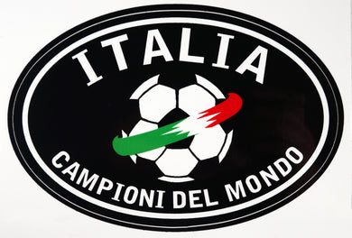 Italia Soccer Decal Sticker - Black
