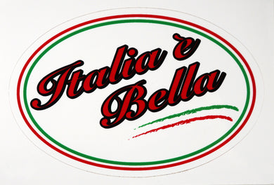 Italia e Bella Decal Sticker