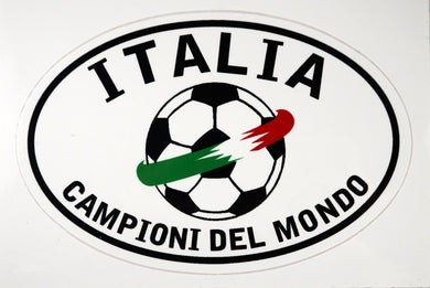 Italia Soccer Decal Sticker - White