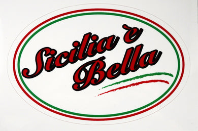 Sicilia e Bella Decal Sticker