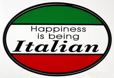 Happiness is Being Italian Decal Sticker