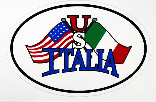 US Italia Flags Decal Sticker