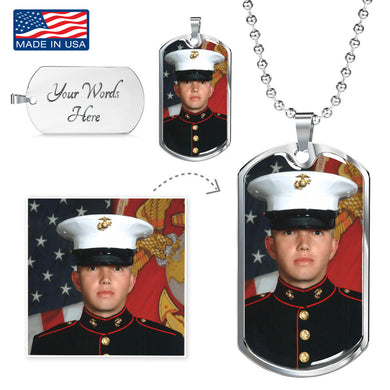 Custom Photo Silver Dog Tag