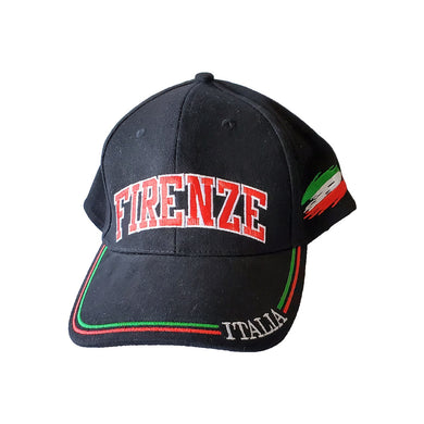 Firenze Black Baseball Cap