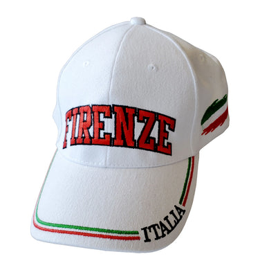 Firenze White Baseball Cap