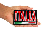 Italia with Flag Iron On Patch