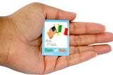 US & Italian Flags Lapel Pin