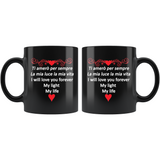 I Will Love You Forever 11oz Black Mug