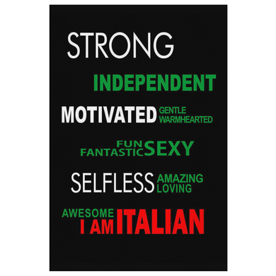 I am Italian Canvas Wall Art Portrait