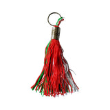 "Italian Flag 4"" Tassel Keychain with Italia Engraving"