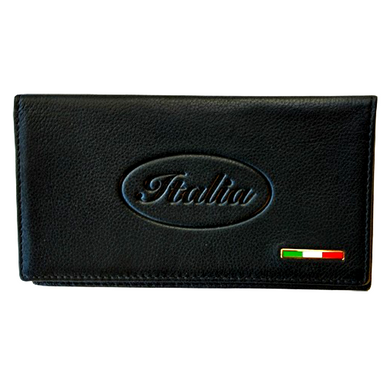 Leather Italia Checkbook Cover