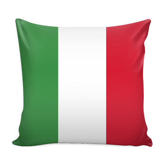 Italian Flag Decorative Throw Pillow Set (Pillow Cover and Insert)