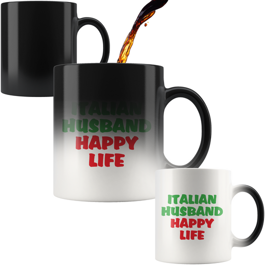 Italian Husband Happy Life Color Changing Mug