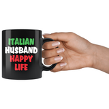 Italian Husband & Wife Happy Life 11oz Combo Mug