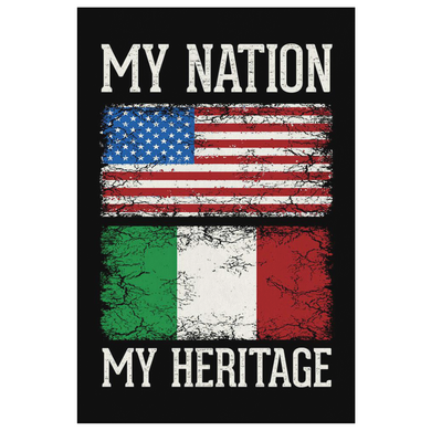 Italian My Nation My Heritage Canvas Wall Art