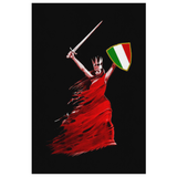 Italian Woman Warrior Canvas Wall Art Portrait