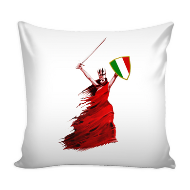 Italian Woman Warrior Pillow Cover with Insert