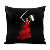 Italian Woman Warrior Decorative Throw Pillow Set (Pillow Cover and Insert)