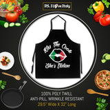 Kiss the Cook She's Italian Apron in Black