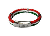 Italia TriColor Leather Bracelet