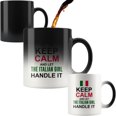Let The Italian Girl Handle It Color Changing Mug